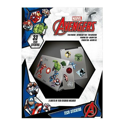 Marvel Avengers Heroes Tech Stickers Set Gadget Decals
